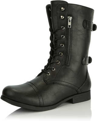 Best work boots for flat feet - DailyShoes Women's Military Combat Ankle Bootie