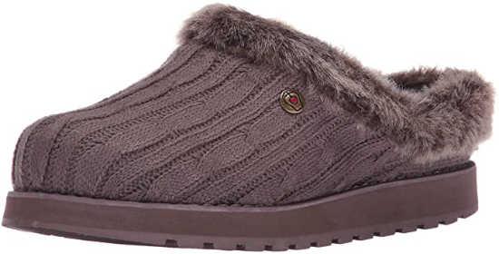 best house slipper for hardwood floors - Skechers Women's Keepsakes Ice Angel Mule