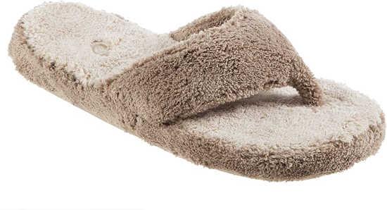 best slippers for sweaty feet - Acorn Women's Spa Thong with Premium Memory Foam