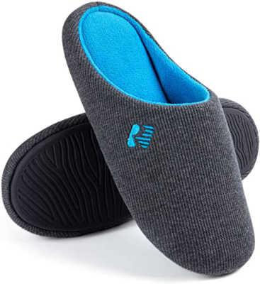best slippers for sweaty feet - RockDove Men's Two-Tone Lightweight Slip-On with Memory Foam